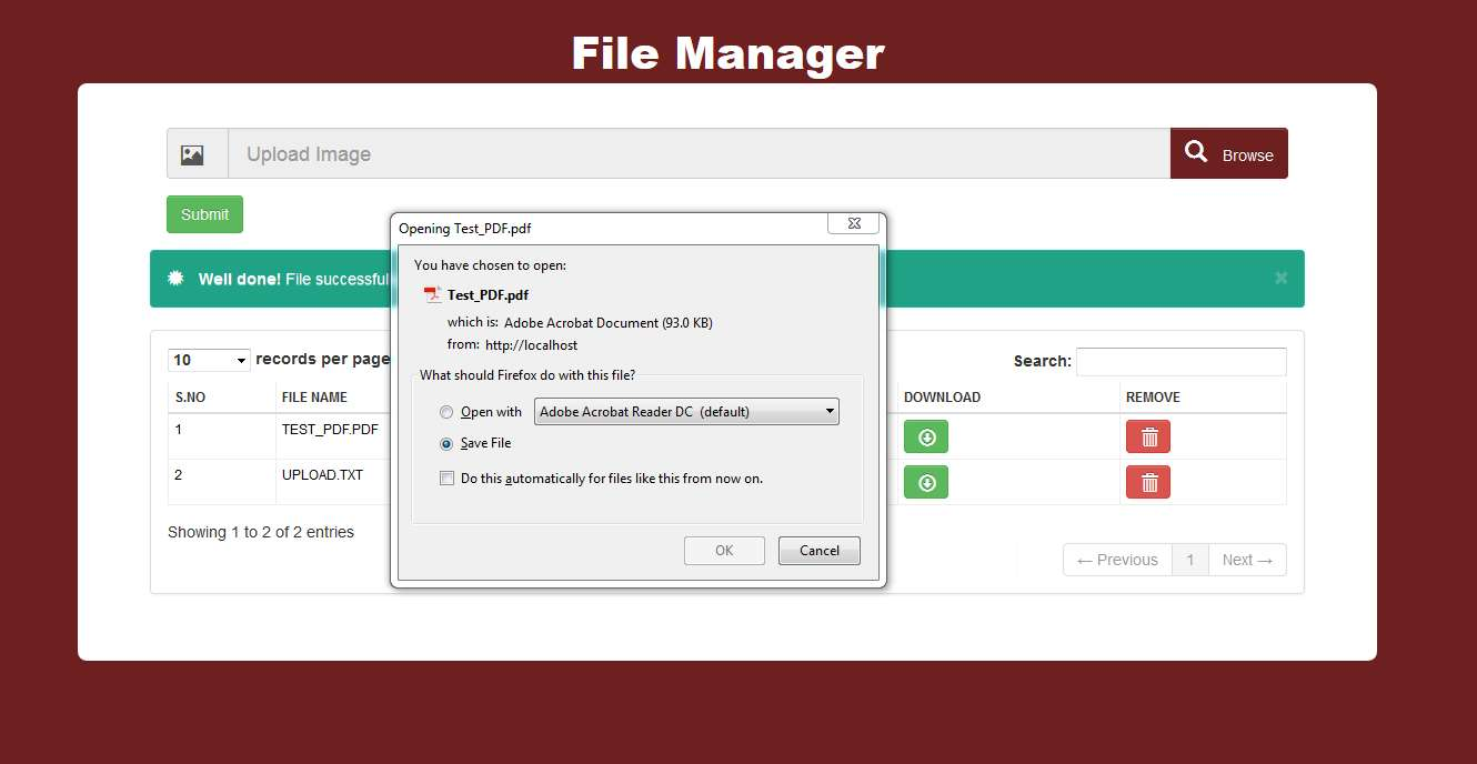 File manager download hack and php