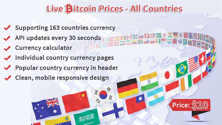Live Bitcoin Price - All countries | Hack and Php
