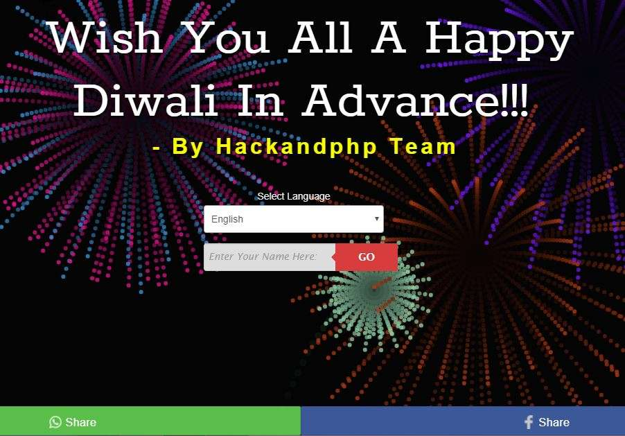 Diwali wishes hackandphp