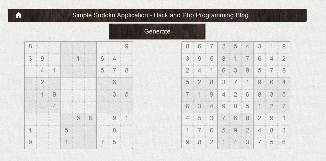 Simple Sudoku Web Application Using PHP | Hack and Php