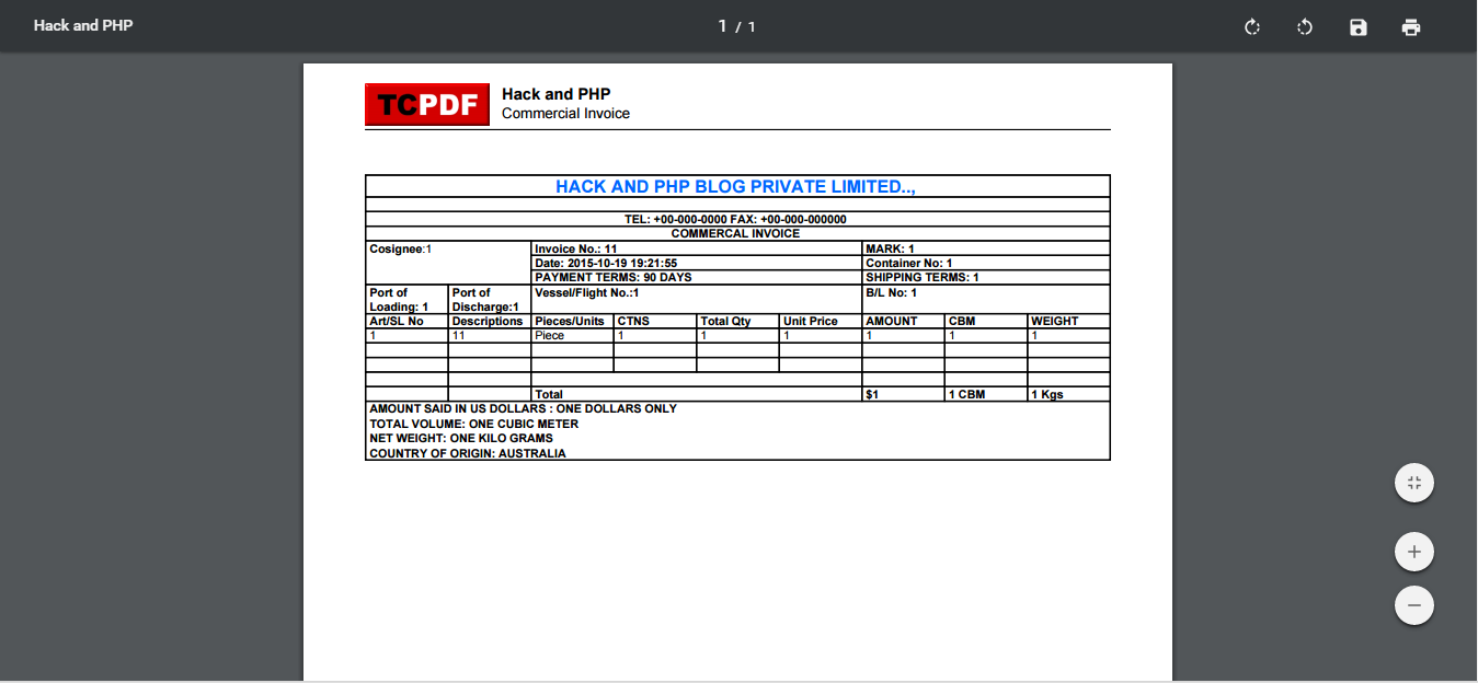 export invoice in html page to pdf using codeigniter hack and php