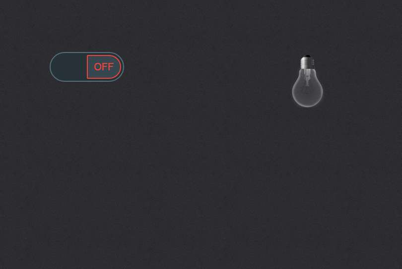 Jquery light off with smooth toggle switch