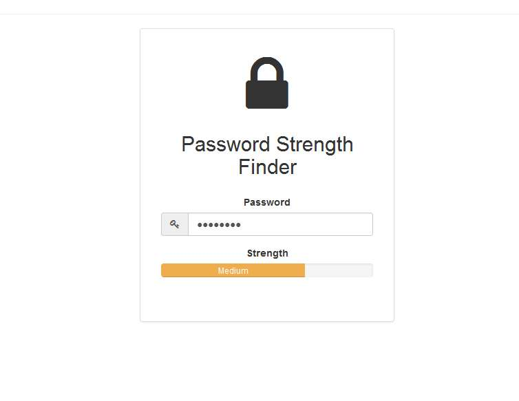 Password Strength Finder